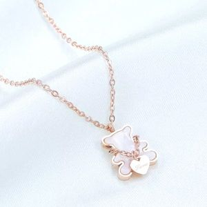 New Stainless Steel Necklace withCute Bear pendant